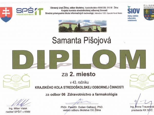 Veľký úspech našej žiačky v súťaži SOČ- držme palce 27. apríla!